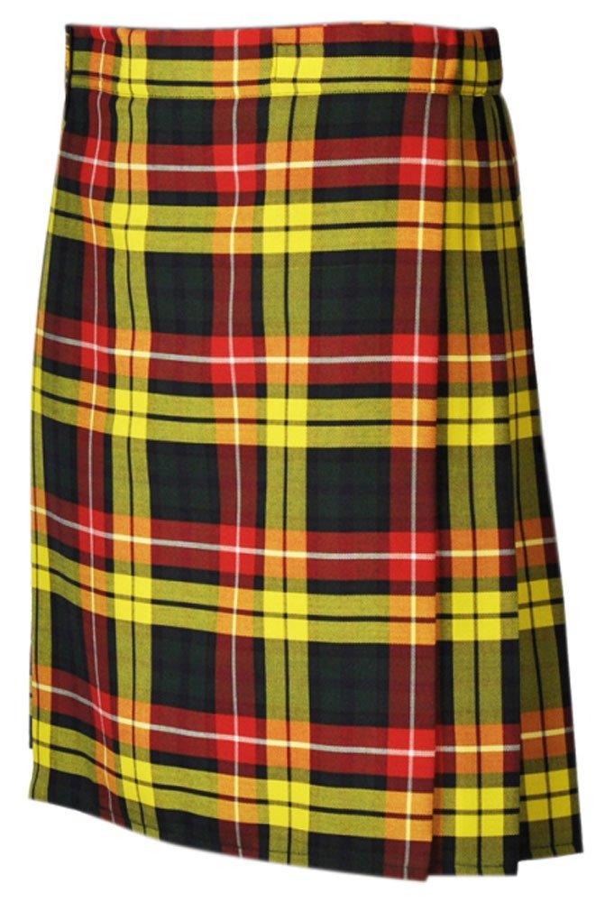Traditional Buchanan 13oz. Tartan 5 Yard Scottish Kilt 42 Waist Size Dress Skirt Tartan Kilts