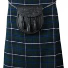 Traditional Blue Douglas Tartan 5 Yard 13oz. Scottish Kilt 46 Waist Size Dress Skirt Tartan Kilts