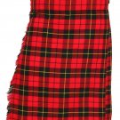 Scottish Wallace Tartan 8 Yard Kilt For Men 38 Waist Size Traditional Tartan Kilt Skirt