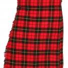 Scottish Wallace Tartan 8 Yard Kilt For Men 46 Waist Size Traditional Tartan Kilt Skirt