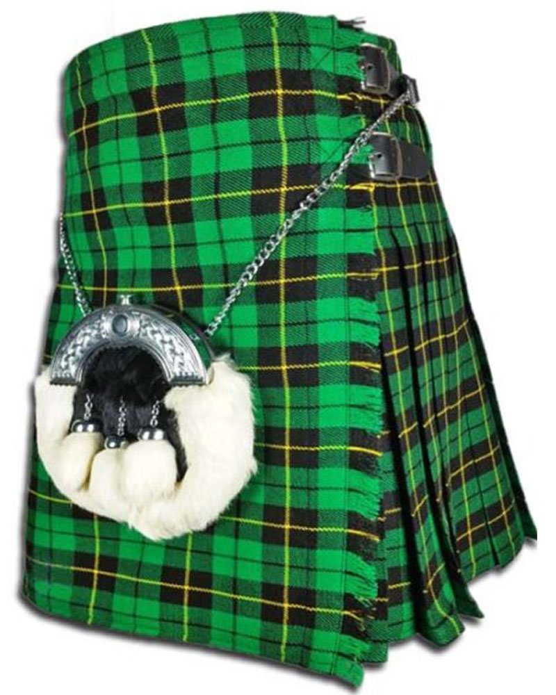 Scottish Wallace Hunting Tartan 8 Yard Kilt For Men 42 Waist Size Traditional Tartan Kilt Skirt