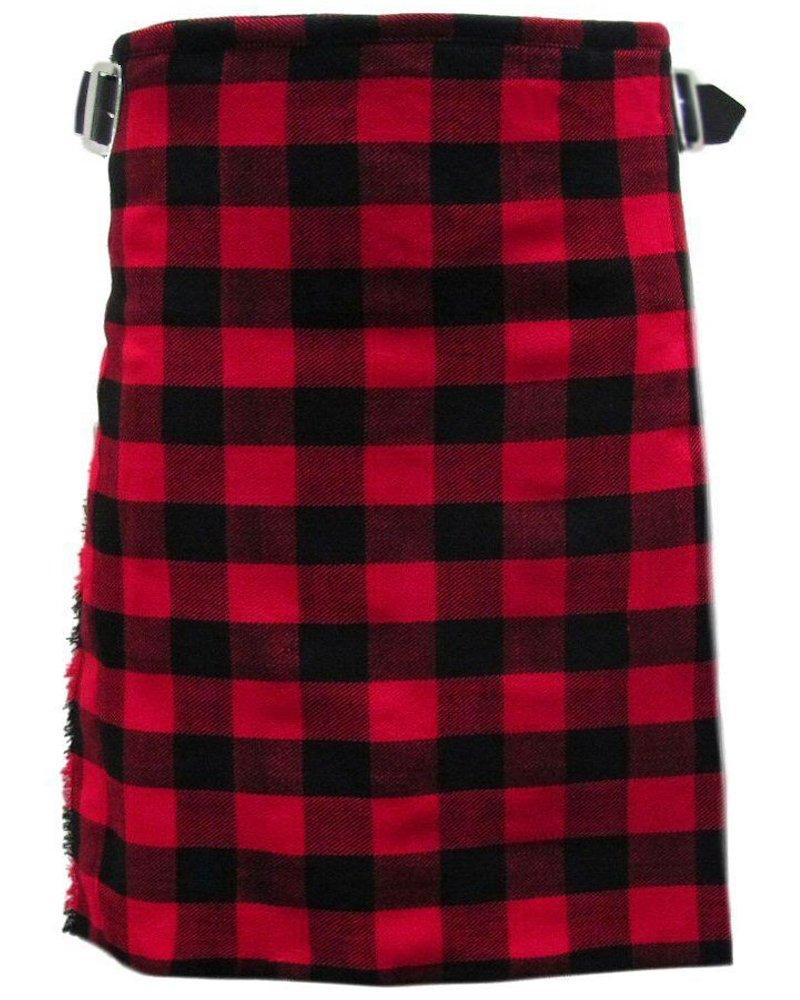 Scottish Rob Roy Tartan 8 Yard Kilt For Men 34 Waist Size Traditional Tartan Kilt Skirt