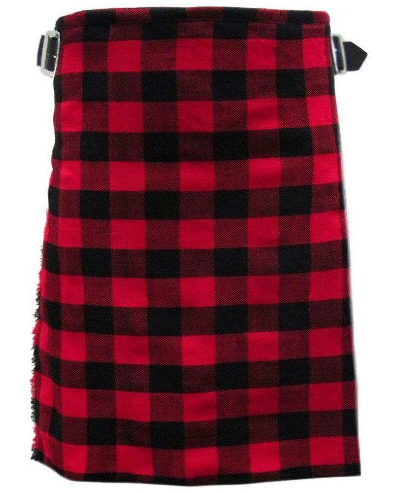 Scottish Rob Roy Tartan 8 Yard Kilt For Men 46 Waist Size Traditional Tartan Kilt Skirt