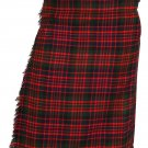 Scottish McDonald 8 Yard Tartan Kilt For Men 28 Waist Size Traditional Tartan Kilt