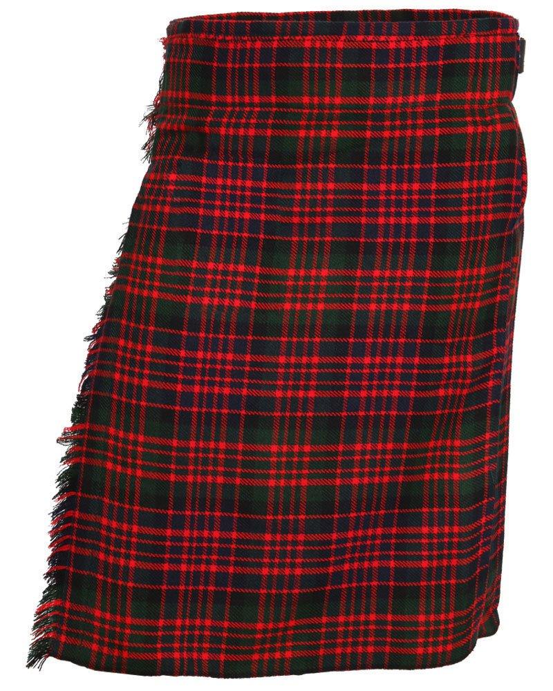 Scottish McDonald 8 Yard Tartan Kilt For Men 32 Waist Size Traditional Tartan Kilt