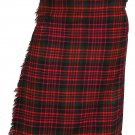 Scottish McDonald 8 Yard Tartan Kilt For Men 36 Waist Size Traditional Tartan Kilt