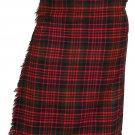 Scottish McDonald 8 Yard Tartan Kilt For Men 46 Waist Size Traditional Tartan Kilt