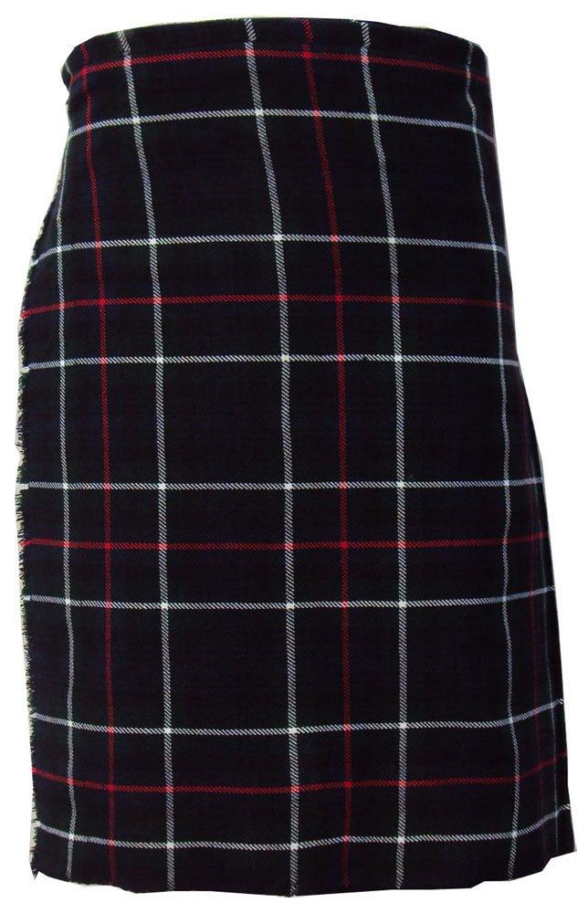 Scottish Mackenzie 8 Yard Tartan Kilt For Men 38 Waist Size Traditional Tartan Kilt