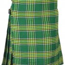Scottish Irish National Tartan 8 Yard Kilt For Men 34 Waist Size Traditional Tartan Kilt
