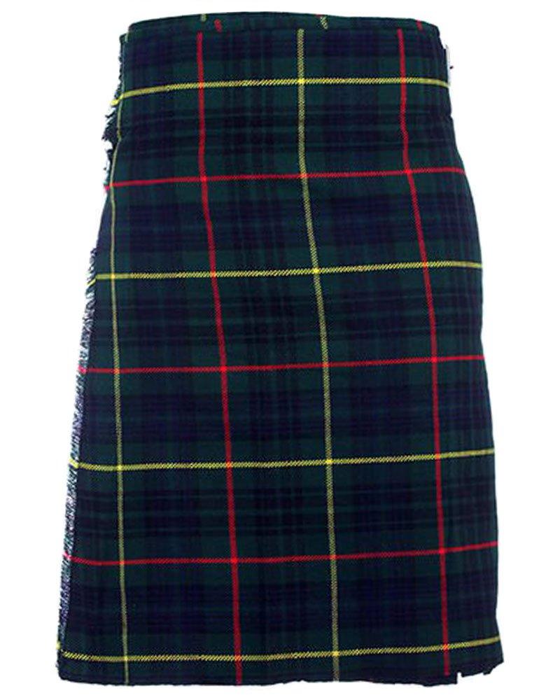 Scottish Hunting Stewart Tartan 8 Yard Kilt For Men 46 Waist Size Traditional Tartan Kilt