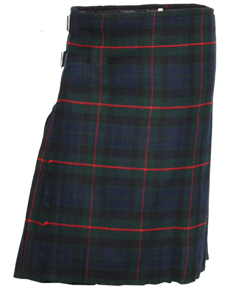 Scottish Gunn Tartan 8 Yard Kilt For Men 46 Waist Size Traditional Tartan Kilt Skirt