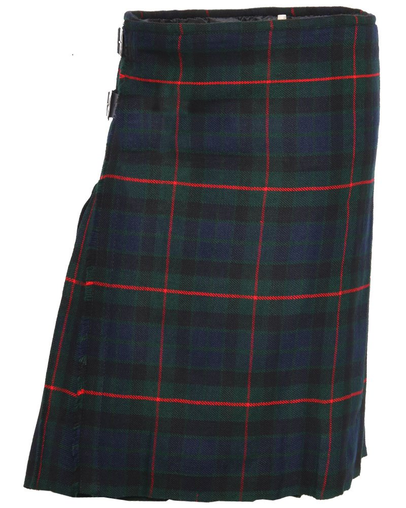 Scottish Gunn Tartan 8 Yard Kilt For Men 26 Waist Size Traditional Tartan Kilt Skirt