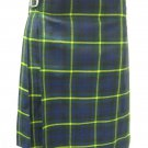 Scottish Gordon 8 Yard Kilt For Men 28 Waist Size Traditional Tartan Kilt Skirt