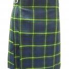 Scottish Gordon 8 Yard Kilt For Men 30 Waist Size Traditional Tartan Kilt Skirt