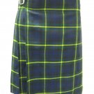 Scottish Gordon 8 Yard Kilt For Men 32 Waist Size Traditional Tartan Kilt Skirt