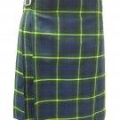 Scottish Gordon 8 Yard Kilt For Men 36 Waist Size Traditional Tartan Kilt Skirt