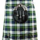 Scottish Dress Gordon 8 Yard Kilt For Men 32 Waist Size Traditional Tartan Kilt Skirt