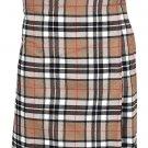 Scottish Camel Thompson Tartan 8 Yard Kilt For Men 28 Waist Size Traditional Tartan Kilt Skirt