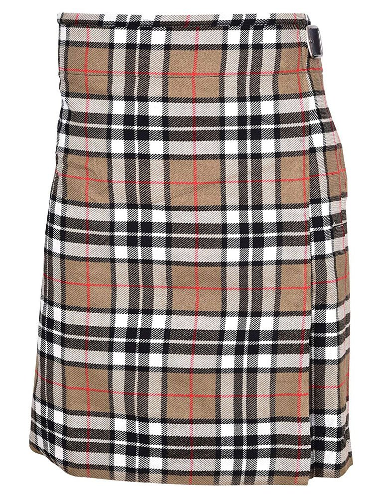 Scottish Camel Thompson Tartan 8 Yard Kilt For Men 32 Waist Size Traditional Tartan Kilt Skirt