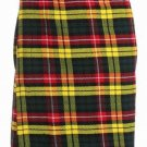 Scottish Buchanan Tartan 8 Yard Kilt For Men 36 Waist Size Traditional Tartan Kilt Skirts