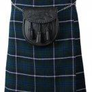 Scottish Blue Douglas 8 Yard Tartan Kilt For Men 30 Waist Size Traditional Tartan Kilt Skirts