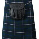 Scottish Blue Douglas 8 Yard Tartan Kilt For Men 32 Waist Size Traditional Tartan Kilt Skirts