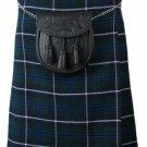 Scottish Blue Douglas 8 Yard Tartan Kilt For Men 50 Waist Size Traditional Tartan Kilt Skirts