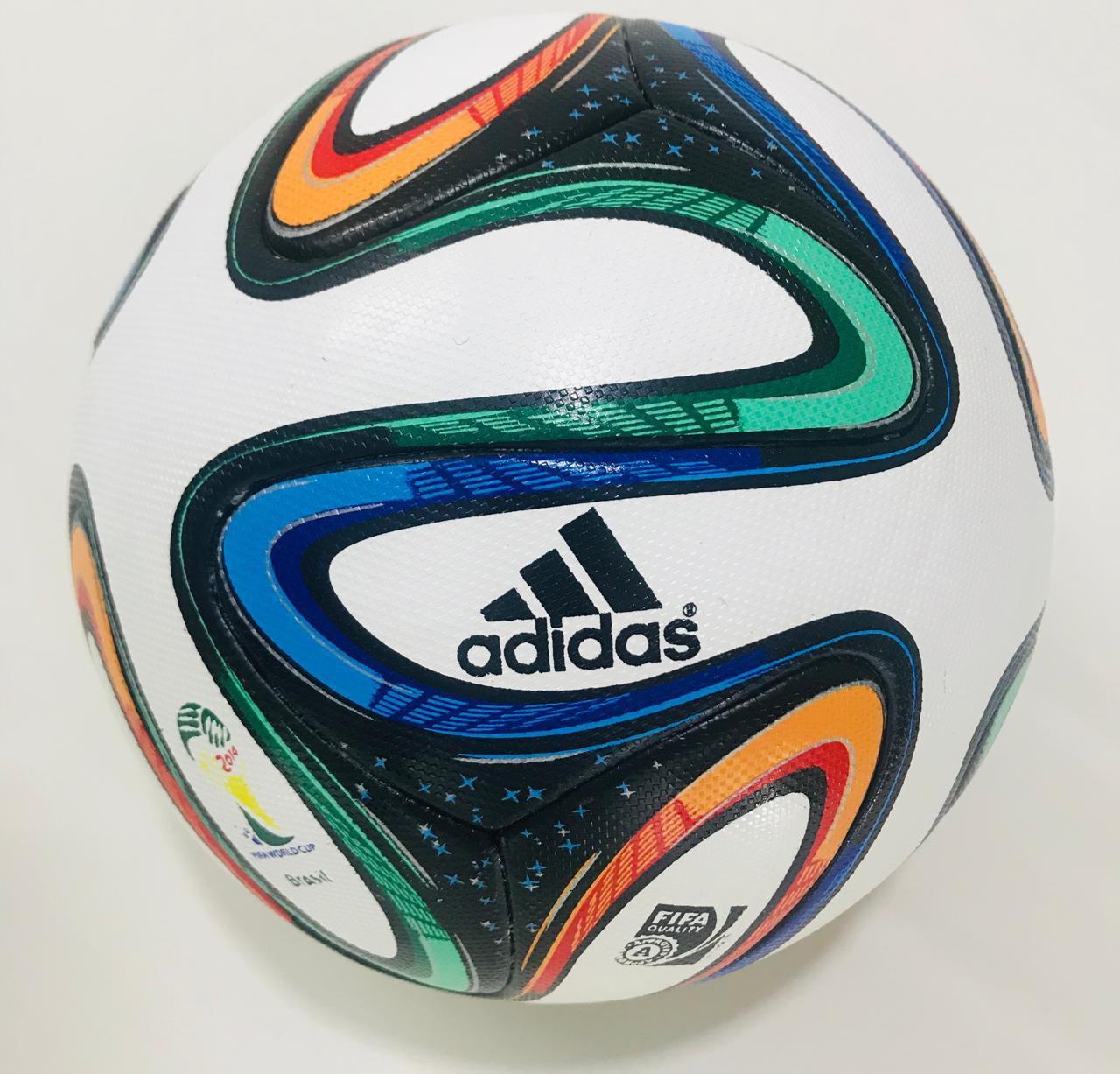 NEW ADIDAS BRAZUCA FIFA WORLD CUP 2014 BRAZIL OFFICIAL SOCCER MATCH BALL SIZE 5