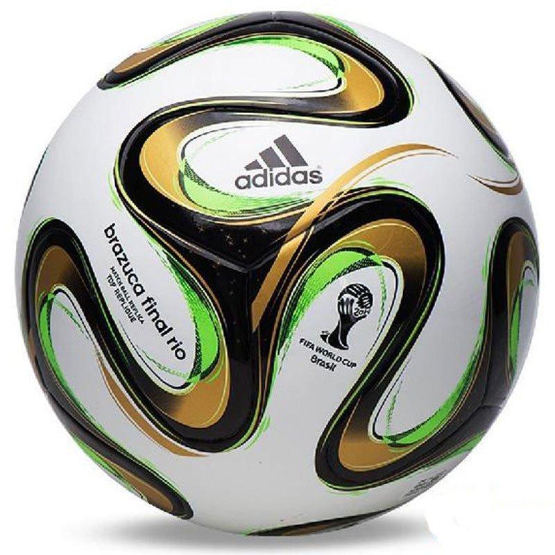 ADIDAS BRAZUCA FINAL RIO FOOTBALL FIFA WORLD CUP 2014 Match Ball Replica SIZE 5