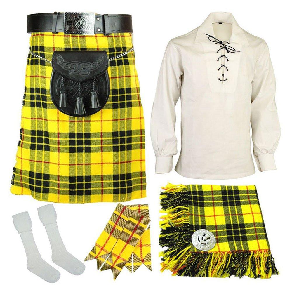 5 Pcs McLeod of Lewis Traditional Tartan kilt Deal | Made To Measure 32 Waist Size