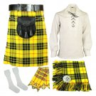 5 Pcs McLeod of Lewis Traditional Tartan kilt Deal | Made To Measure 50 Waist Size