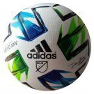 adidas 2020 MLS Trainer Nativo XXV Ball - White-Blue-Green Size 5 FH7315