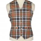 Scottish Camel Thomson Vest / Irish Formal Tartan Waistcoats - 4 Plaids
