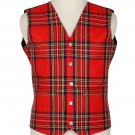 Scottish Royal Stewart Vest / Irish Formal Tartan Waistcoats - 4 Plaids