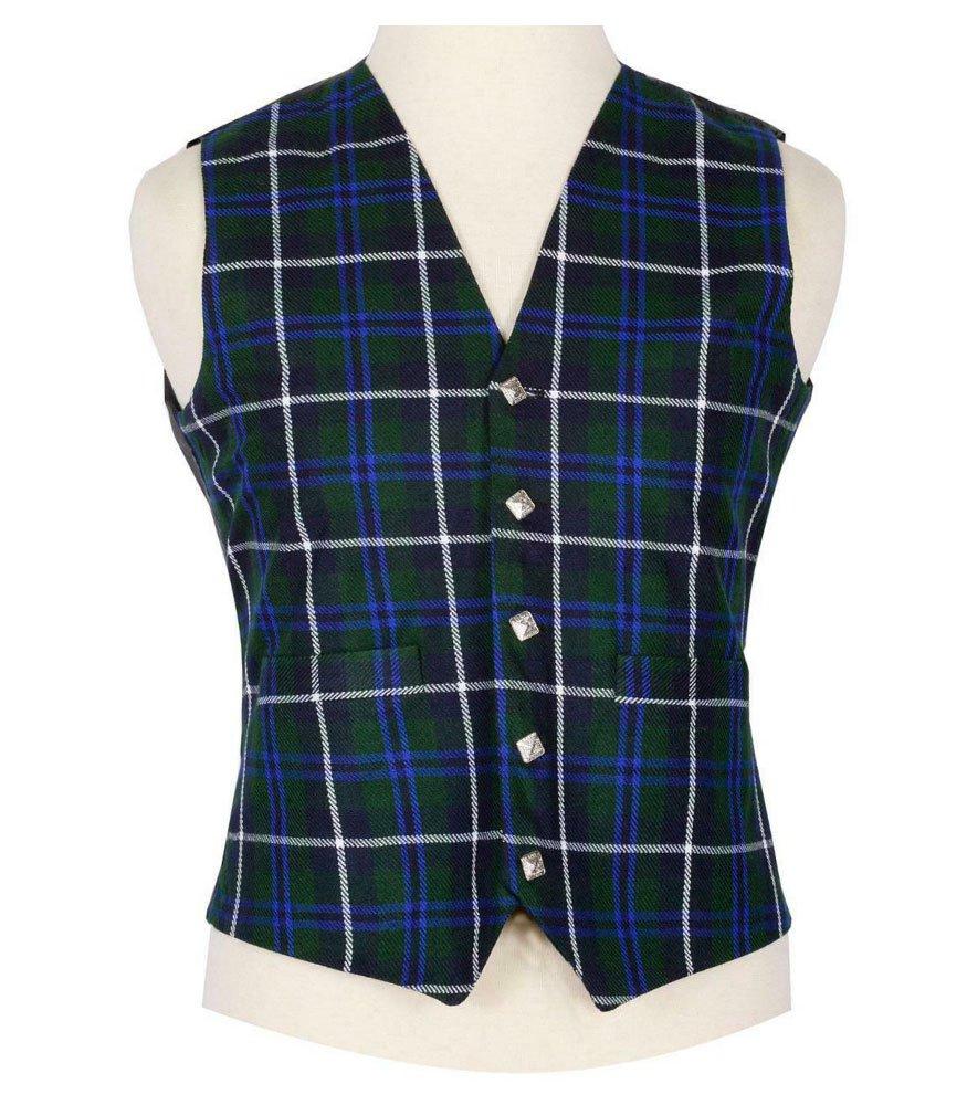 Scottish Douglas Blue Vest / Irish Formal Tartan Waistcoats - 4 Plaids