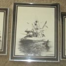 WILLIAM C. GILPIN PENCIL CHARCOAL PRINTS/ LITHO, THREE PICTURES SEE DESCRIPTION