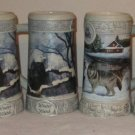 MILLER BEER STEIN MUG 4 PIECES