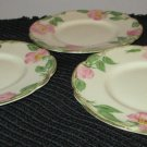 "FRANCISCAN DESERT ROSE 6 1/2"" BREAD & BUTTER (3) DISHES"