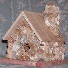 HAND CRAFTED, ROCK VENEERED BIRD HOUSE