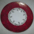 EBERTHAL  BAVARIA GERMANY FINE  PORCELAIN RED & GOLD  SAUCER PLATE 2783