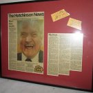 RED SKELTON @  KANSAS STATE FAIR SEPT 13, 1986 ARTICLE WITH TICKET STUB FRAMED