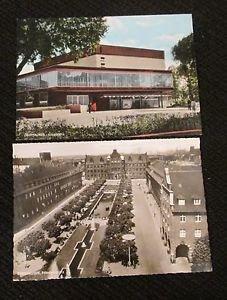 2 OBERHAUSEN, GERMANY POSTCARDS ERA 1950/60 UNUSED