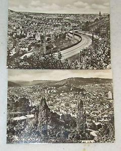 """2 POSTCARDS STUTTGART, GERMANY 1940 ERA UNUSED 4"""" X 5 3/4"""""""