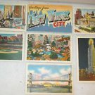 "7 POSTCARDS NEW YORK CITY, NY 1940 ERA UNUSED 4"" X 5 3/4"""