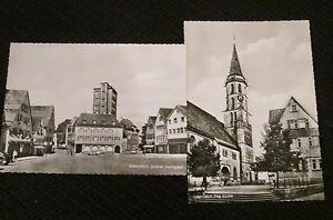 2 SCHORNDORF, GERMANY POSTCARDS ERA 1950/60 UNUSED