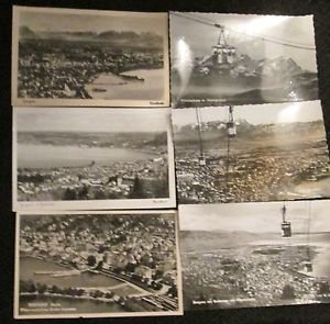6 BREGENZ, GERMANY POSTCARDS ERA 1950/60 UNUSED