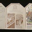 BALKAR GRILL MENU GERMANY 1968 GEBR. GREINER . STUTTGART