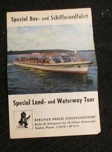 BERLINER BAREN STADTRUNDFAHRT BERLIN, GERMANY SPECIAL LAND & WATERWAY TOUR