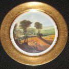 VINTAGE COLLECTIBLE PICKARD CHINA  GOLD HAND PAINTED DECORATED PLATE SCENIC