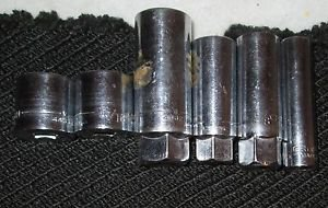 """CRAFTSMAN 8 PIECES. 3/8"""" DRIVE 6 POINT DEEP WELL & 12 PT  SAE  USA"""